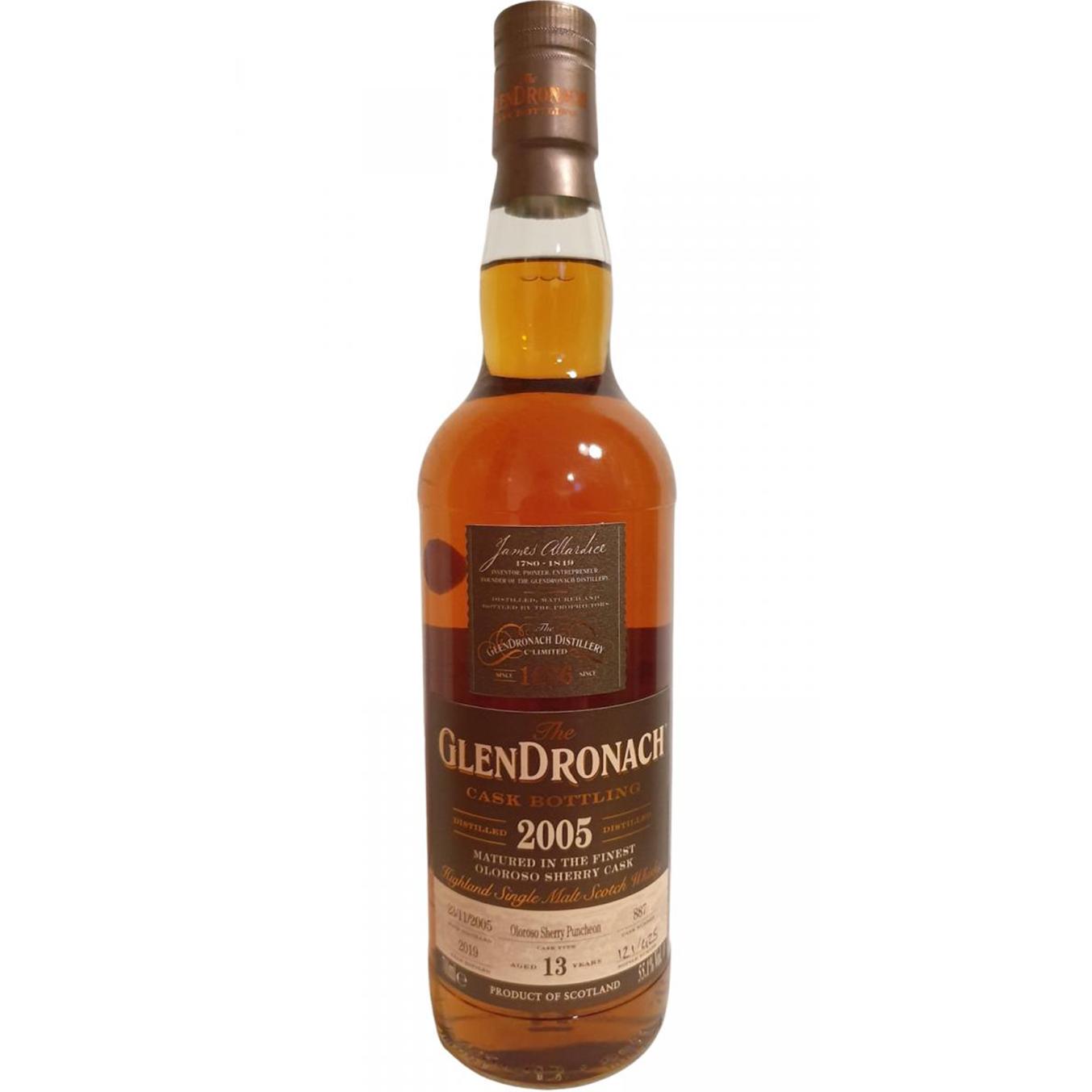 Glendronach 2005 13 ans – cask #887