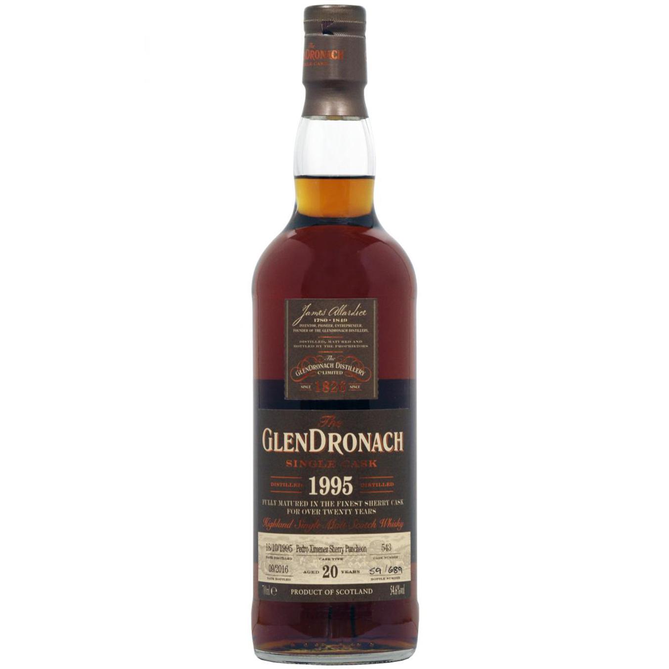Glendronach 1995 20 years – cask #543
