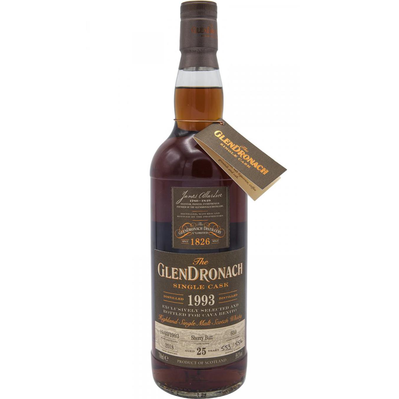 Glendronach 1993 25 years – cask #659