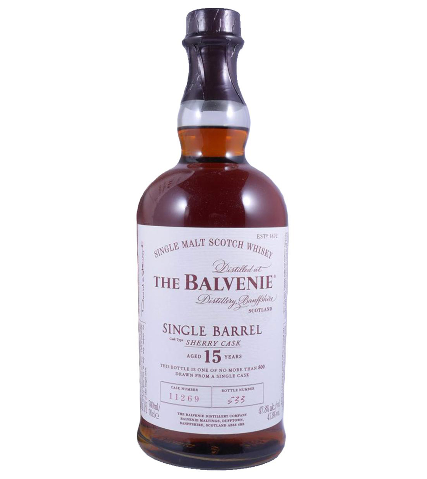 Balvenie 15 years Sherry Cask – cask #11269