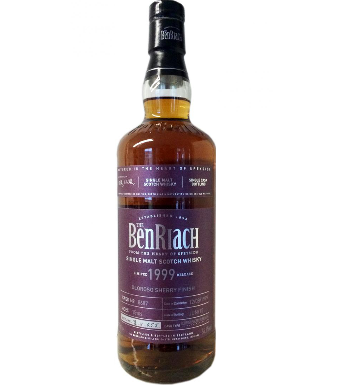 BenRiach 1999 15 years – cask #8687