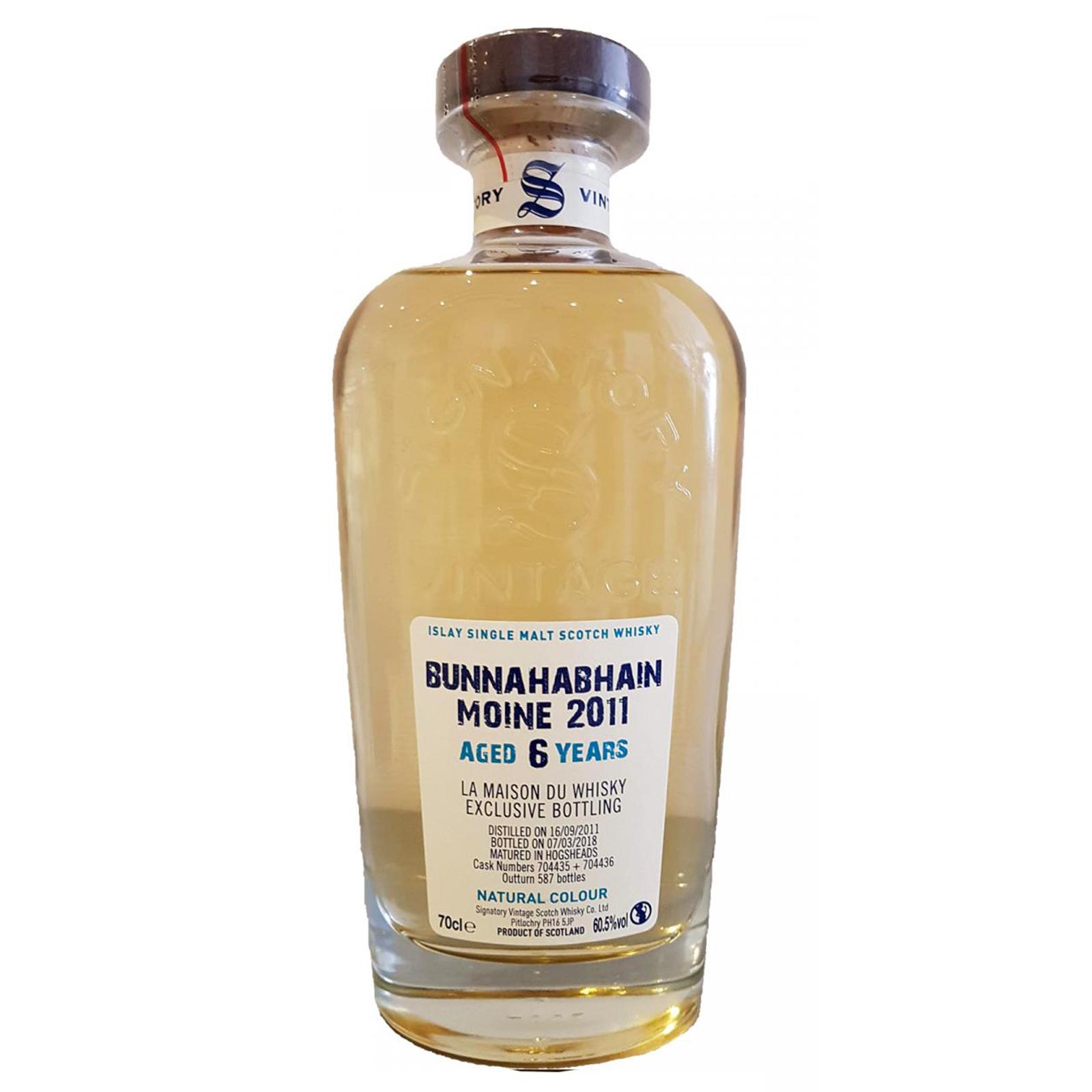 Bunnahabhain 2011 6 years – cask #704435 #704436